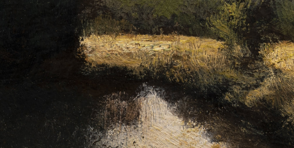 Creek at Sunset by M Francis McCarthy - 5x10 (Detail 2)
