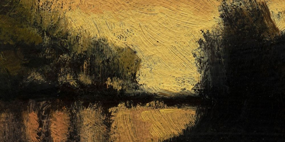 Twilight Pond by M Francis McCarthy - 5x10 (Detail 2)