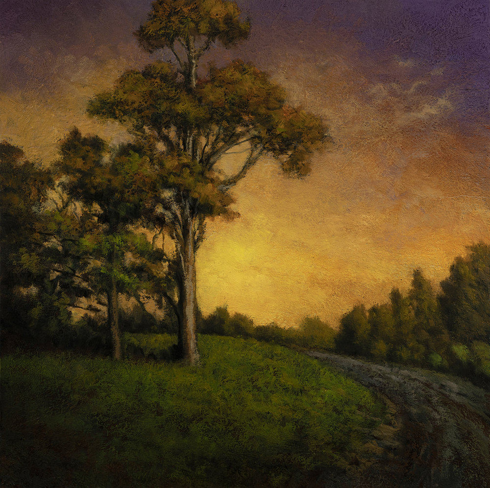 Road to Twilight  by M Francis McCarthy - 12x12 Oil on Wood Panel