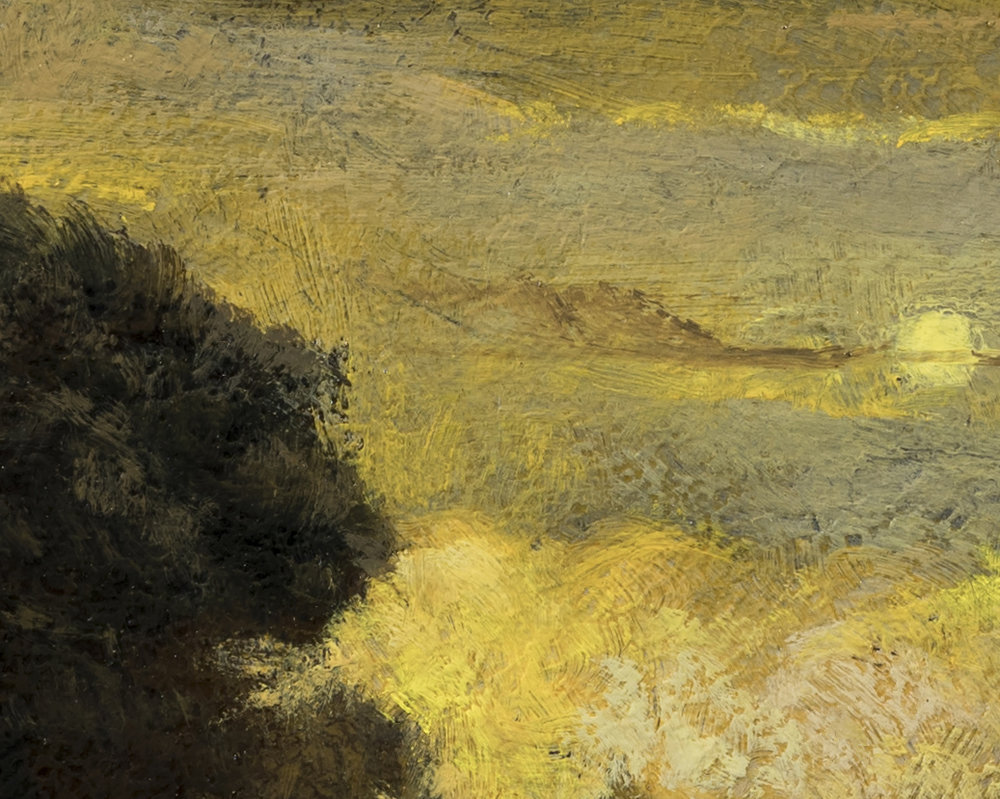 Study after: Aert Van Der Neer River Scene by M Francis McCarthy - 8x10 (Detail 2)
