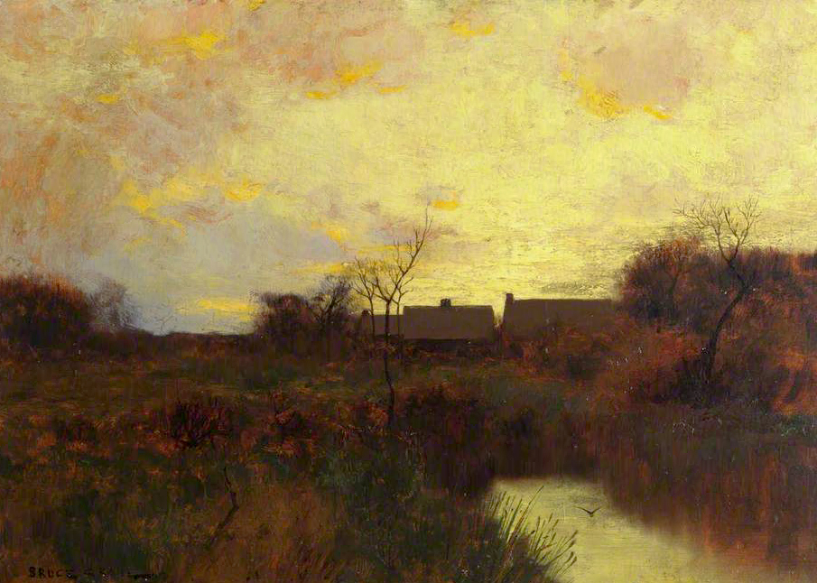George Inness River Landscape (Original)