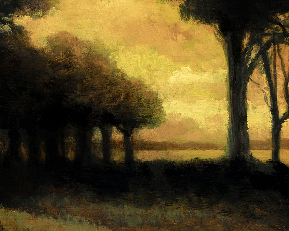 Woodland Brook at Sunset   by M Francis McCarthy - 8x10 (Detail)