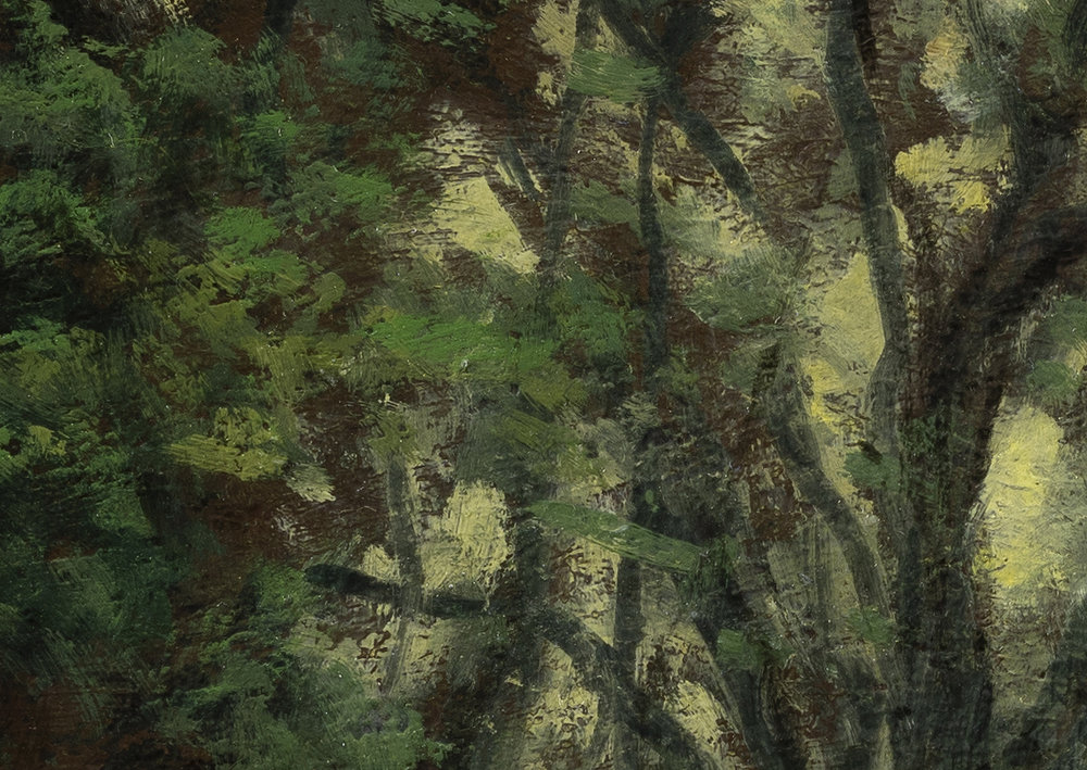 Forest Edge by M Francis McCarthy - 10x14 (Detail 2)