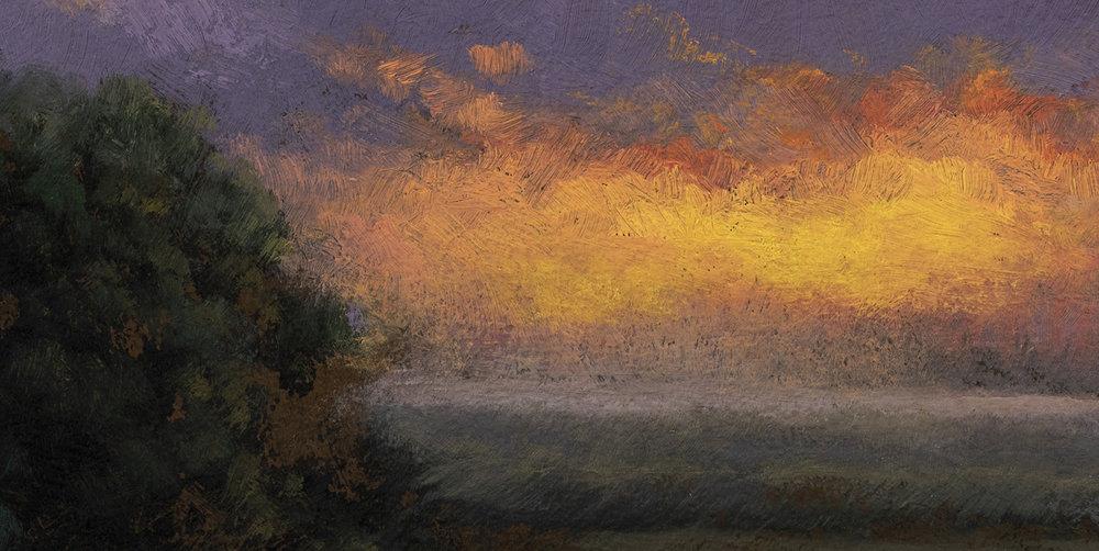 Rivers Edge by M Francis McCarthy - 5x10 (Detail)