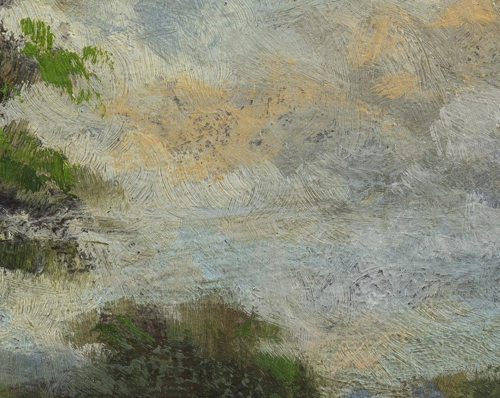 Study after Jacob van Ruisdael Landscape by M Francis McCarthy - 8x10 (Detail 2)