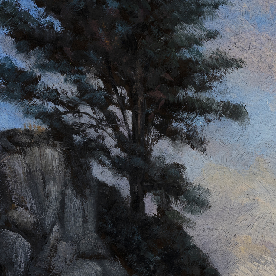 Evening is Coming by M Francis McCarthy - 8x8 (Detail)