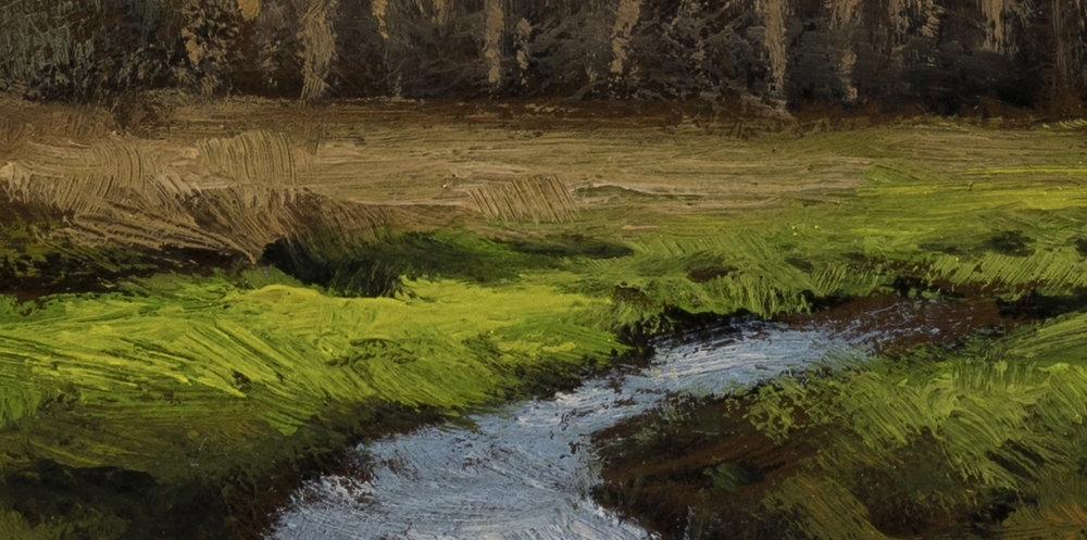 Meadow Stream by M Francis McCarthy - 5x10 (Detail 2)