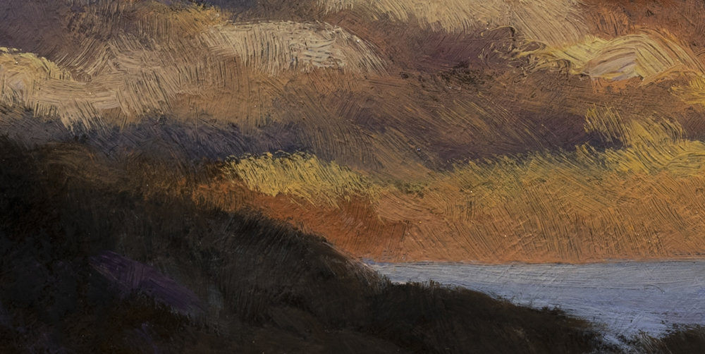 Twilight by the Sea by M Francis McCarthy - 5x10 (Detail 2)