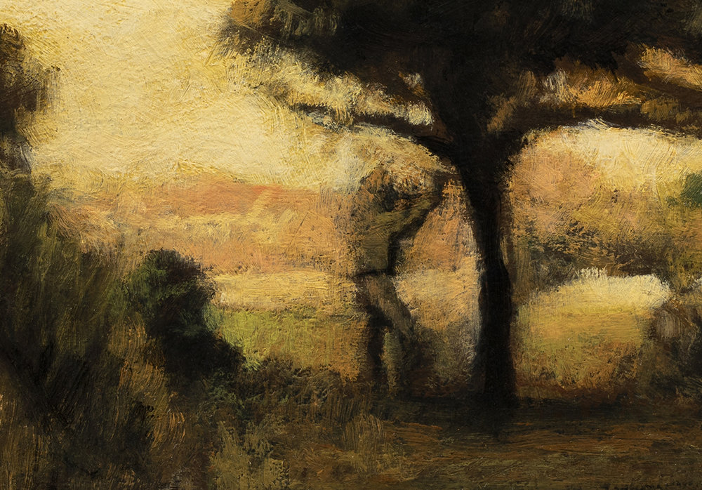 Study after: Jean Millet Apple Picking by M Francis McCarthy - 7x10 (Detail)
