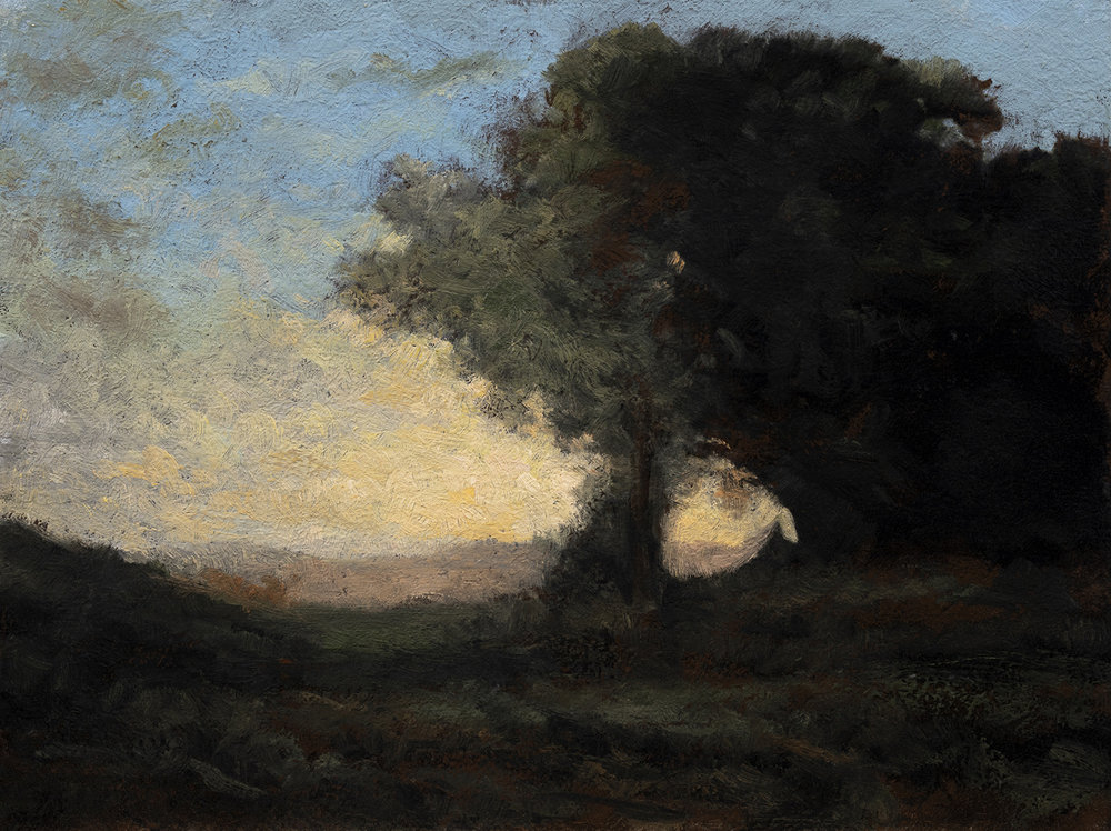 Study after: Camille Corot 'Landscape' by M Francis McCarthy -6x8 Oil on Wood Panel