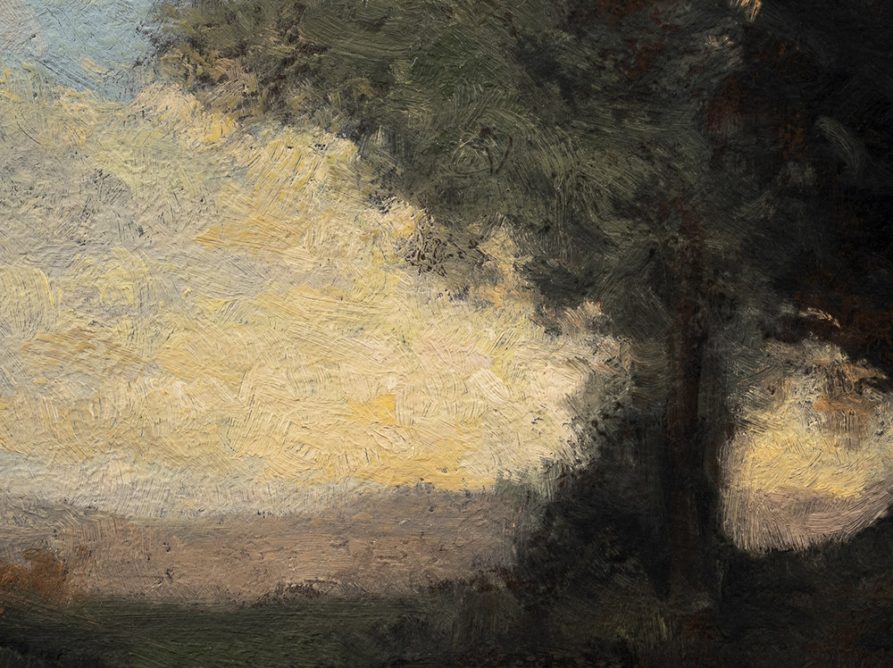 Study after: Camille Corot 'Landscape' by M Francis McCarthy -6x8 (Detail)