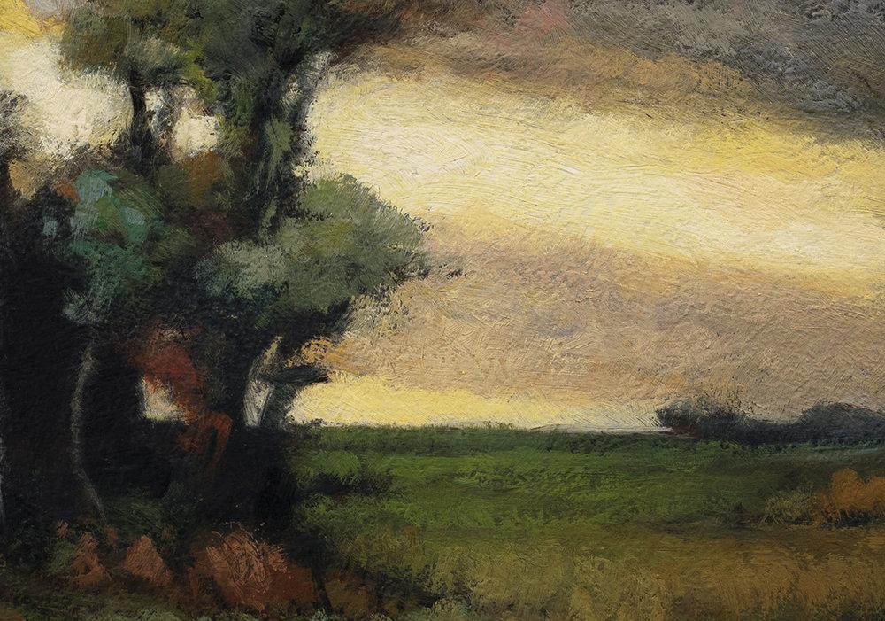 John Francis Murphy Landscape by M Francis McCarthy - 7x10 (Detail)