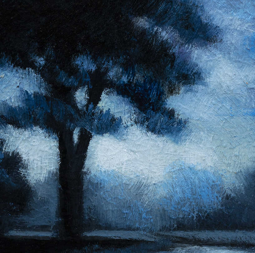 Blue Nocturne by M Francis McCarthy - 3½x3½ (Detail)