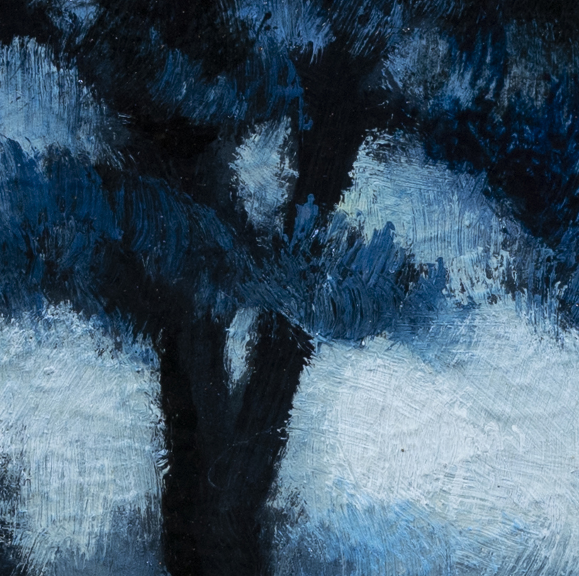 Blue Nocturne by M Francis McCarthy - 3½x3½ (Detail 2)