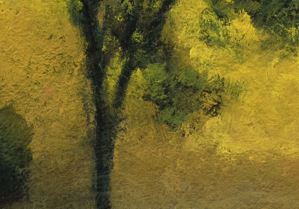 Study after: George Inness Sunrise by M Francis McCarthy - 7x10 (detail 2)