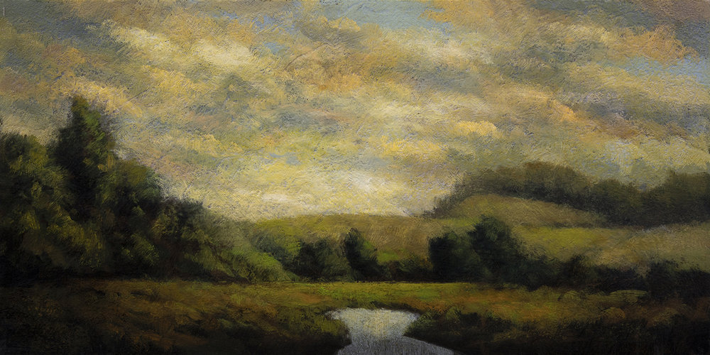 Early Summer by M Francis McCarthy - 5x10 Oil on Wood Panel