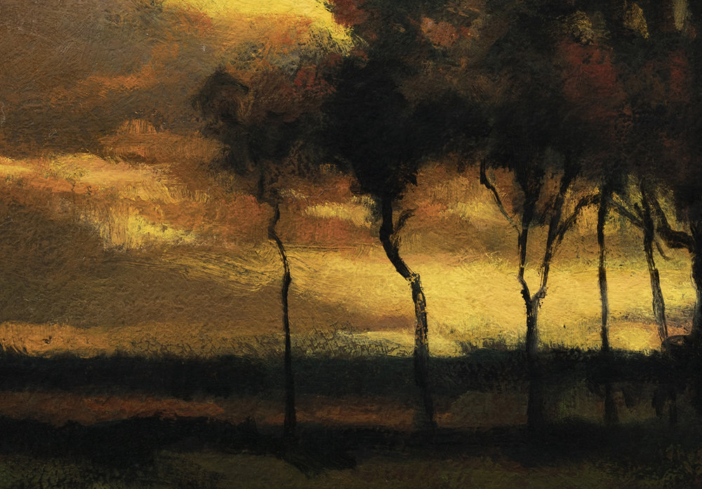 Study after:John Francis Murphy Sunset Landscape by M Francis McCarthy -7x10 (Detail)