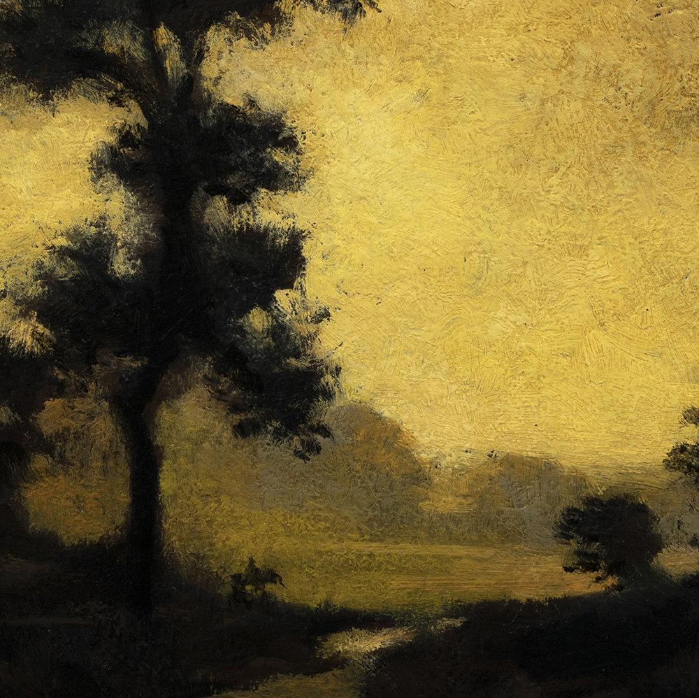 Study after Ralph Albert Blakelock Moonlight by M Francis McCarthy - 8x8 (Detail)