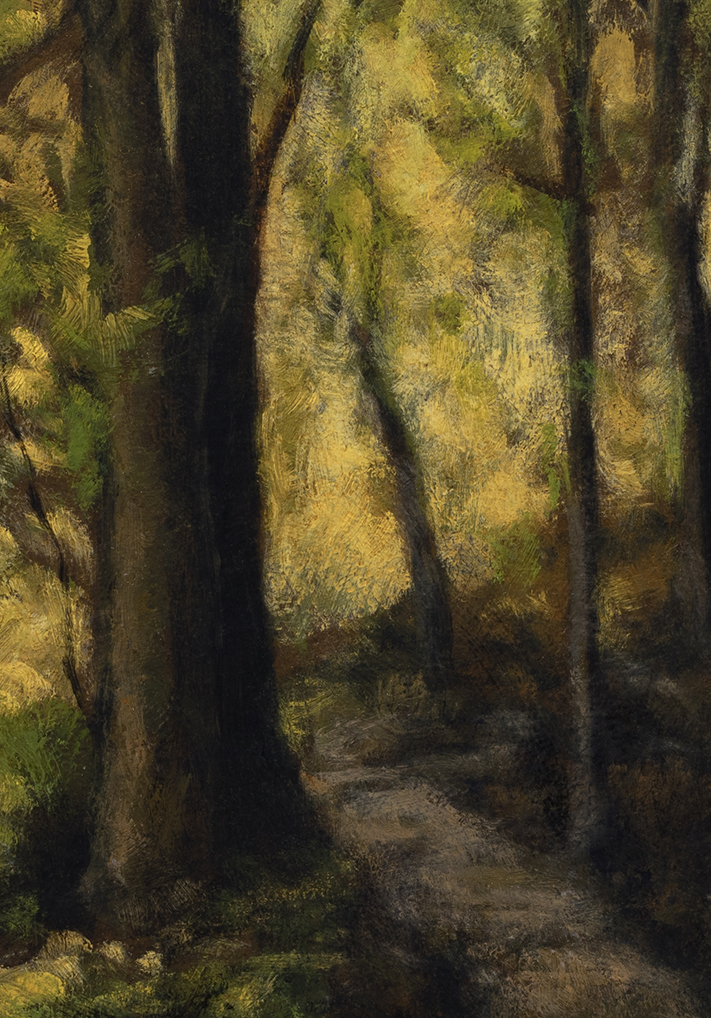 Forest Trail by M Francis McCarthy - 7x10 (Detail)
