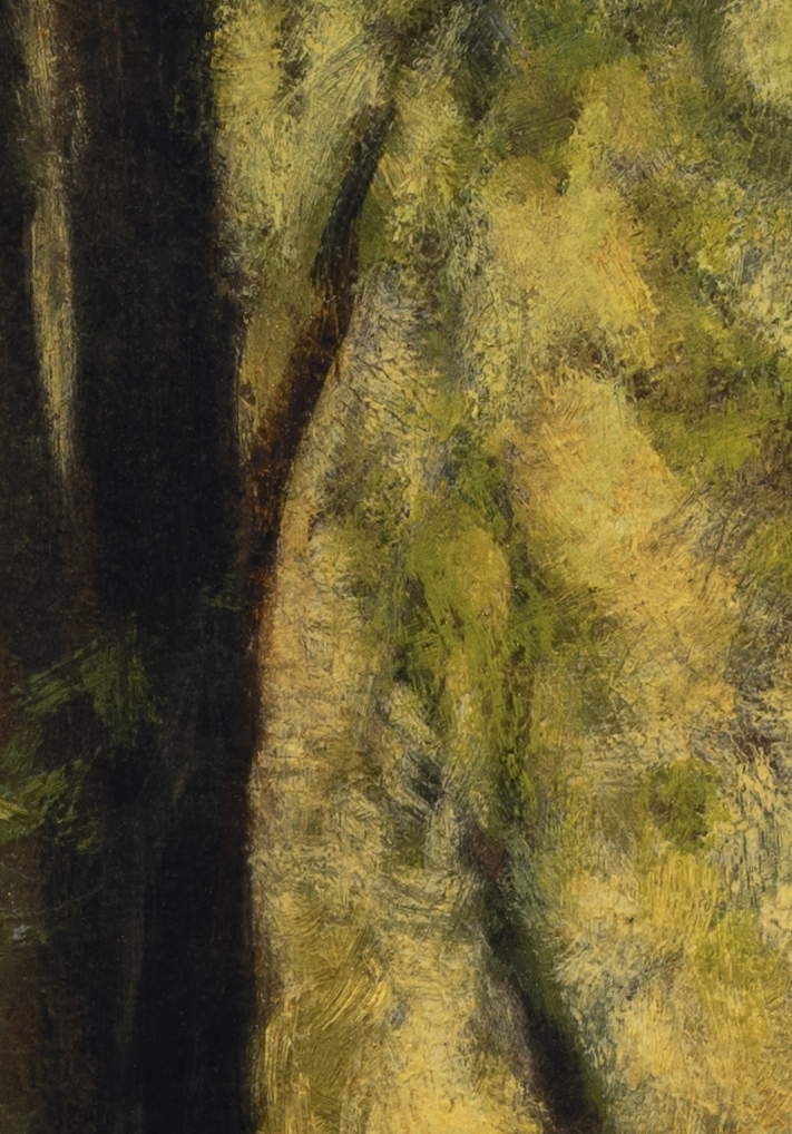 Forest Trail by M Francis McCarthy - 7x10 (Detail 2)