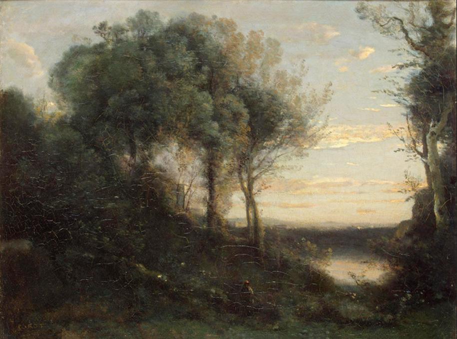 Camille Corot Evening (Original)
