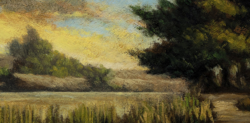 Path by the Pond by M Francis McCarthy - 7x14 (Detail)