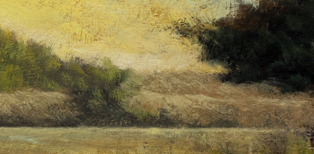 Path by the Pond by M Francis McCarthy - 7x14 (Detail 2)
