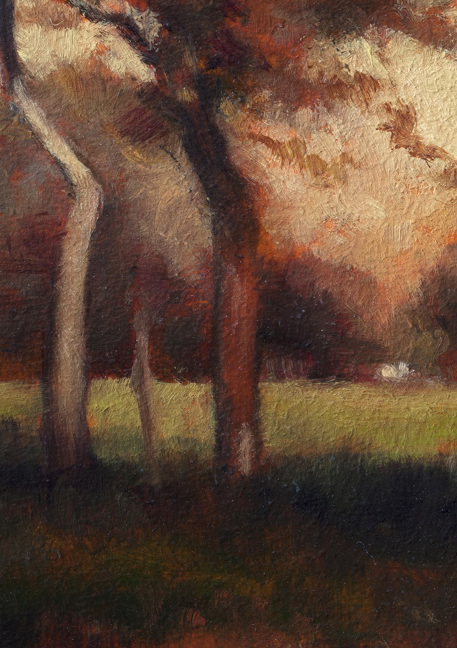 Study after: George Inness California by M Francis McCarthy - 5x7 (Detail)