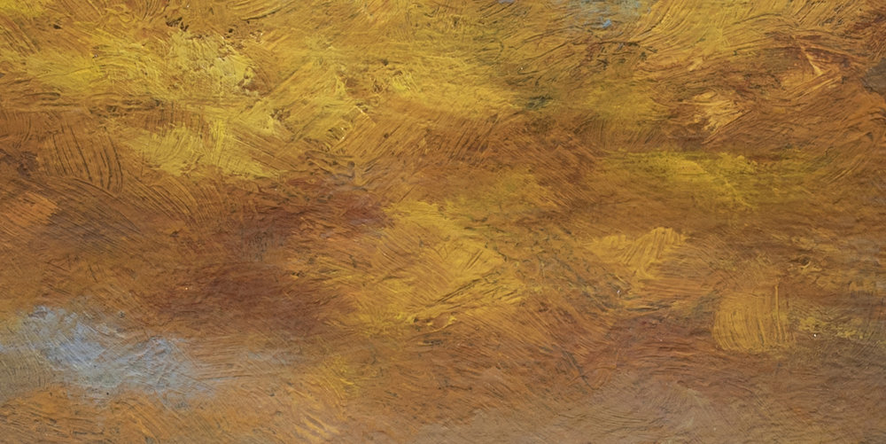 Sunset after a Storm by M Francis McCarthy - 7x14 (Detail 2)