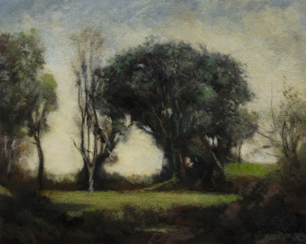 Study after Camille Corot Landscape by M Francis McCarthy - 8x10 Oil on Wood Panel
