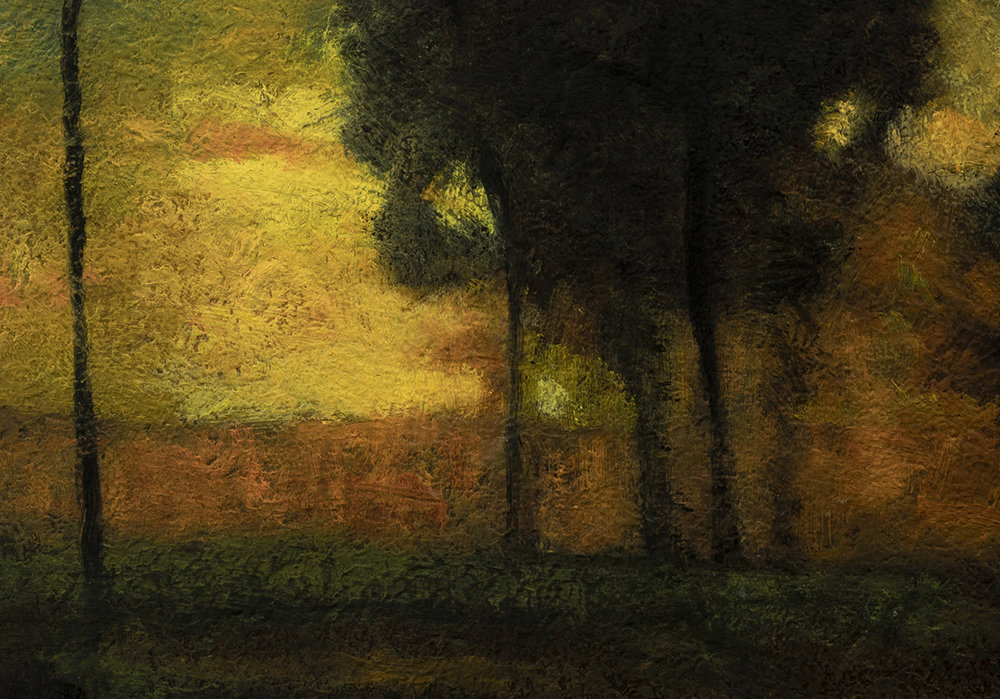 Study after George Inness Sunset in the Old Orchard by M Francis McCarthy - 7x10 (Detail)