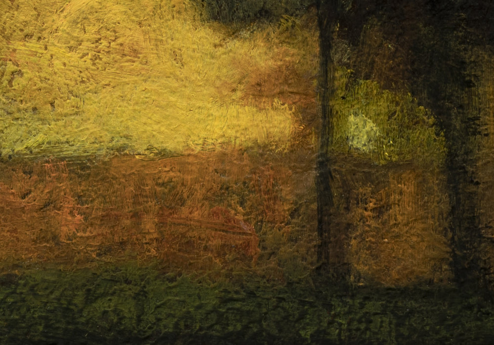 Study after George Inness Sunset in the Old Orchard by M Francis McCarthy - 7x10 (Detail 2)