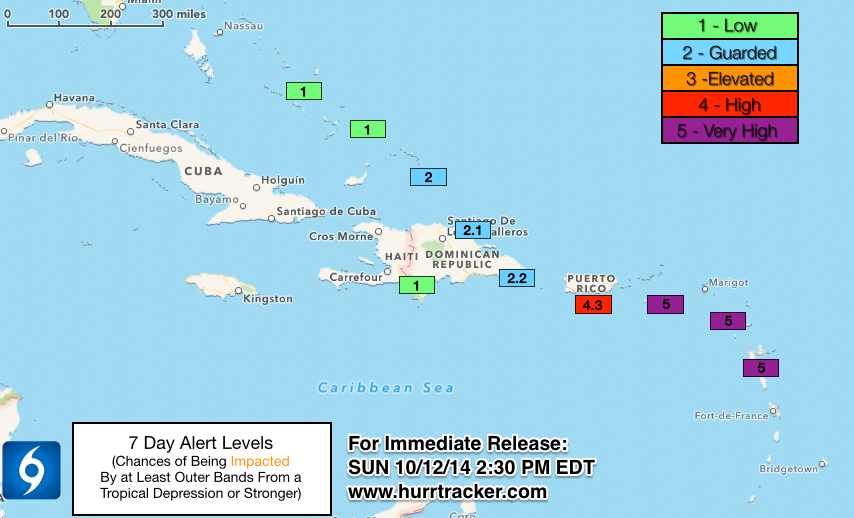 Here are the areas that need to keep an eye on Gonzalo. Preparations should be made in 4/5 Alert level regions.