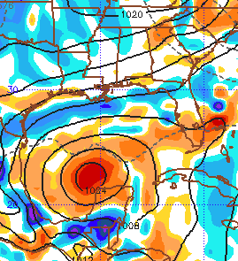 10/14 12Z EURO forecast for WED 10/22. Many models forecasting development.