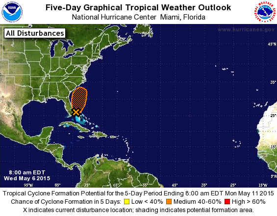 8AM EDT Outlook from the NHC