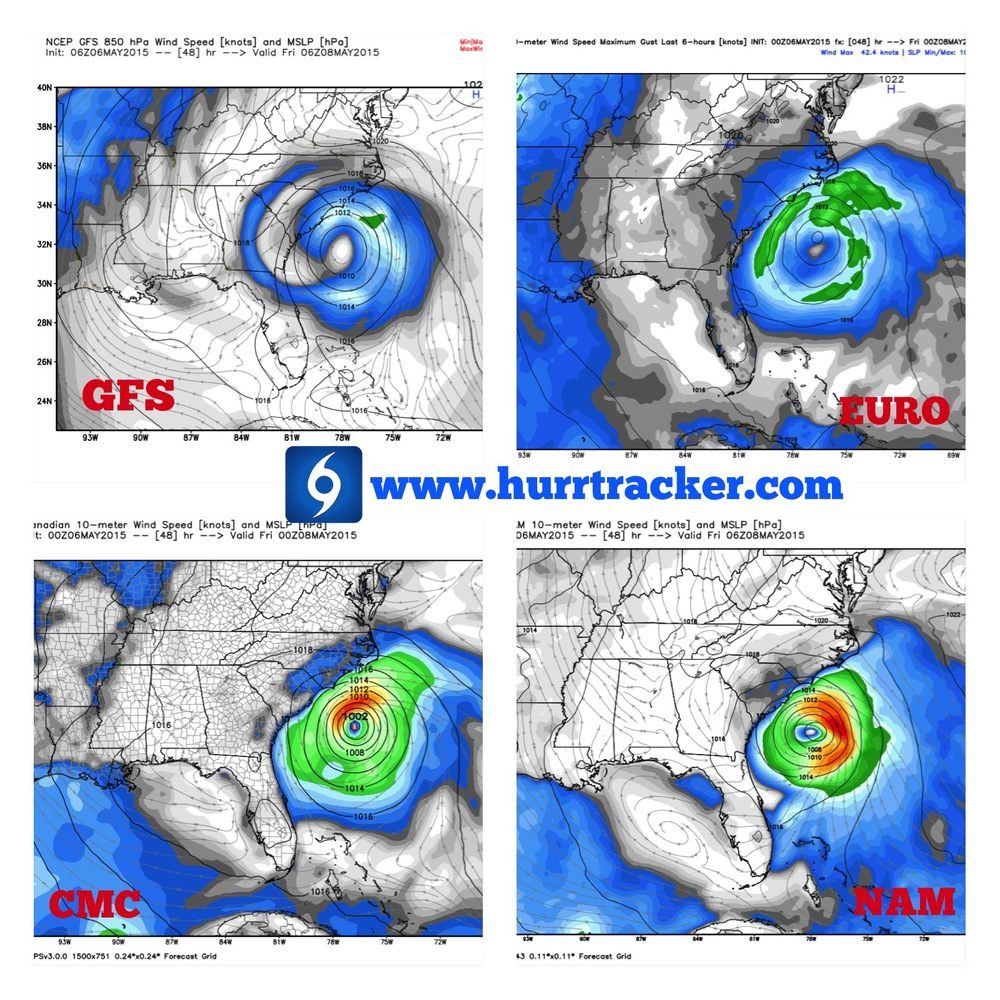 Models Are In Good Agreement In Regards To The Track 48 Hours From Now