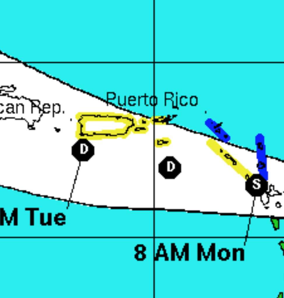 TS watches and warnings are up for portions of the NE Caribbean.