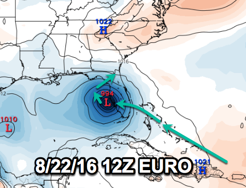 Today's models may be trying to trend towards S FL impacts and an entry into the E Gulf. Again, not a forecast.