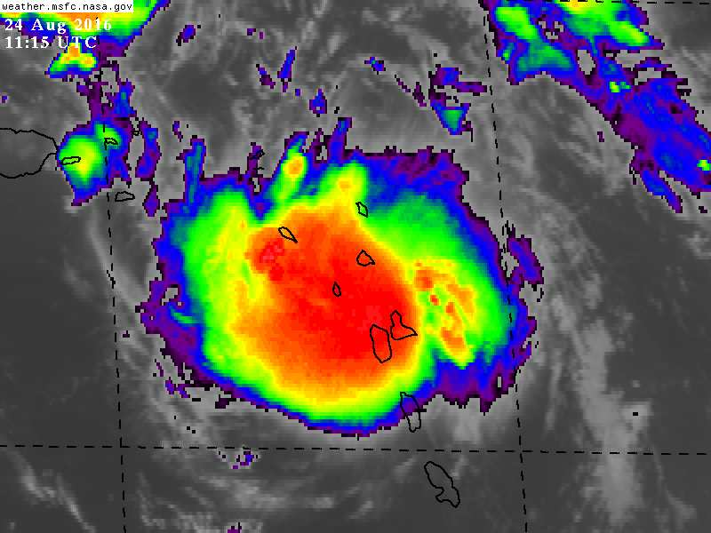 Invest 99L has become better organized overnight.