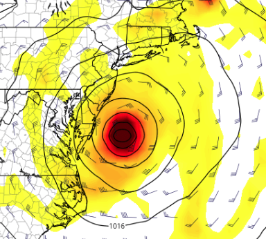 12Z EURO model run today shows a closer track towards the coast.