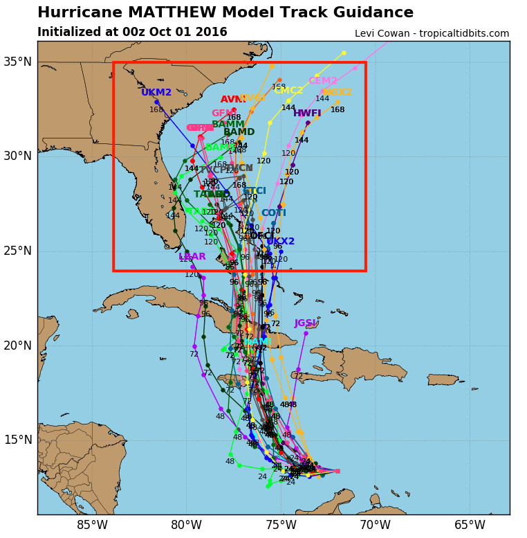Models begin to diverge after 4 days.