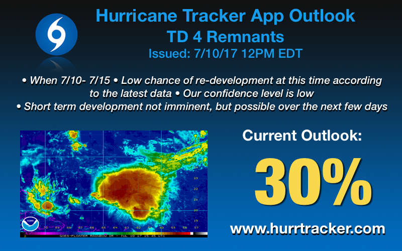 Non-official outlook from us here at the Hurricane Tracker App