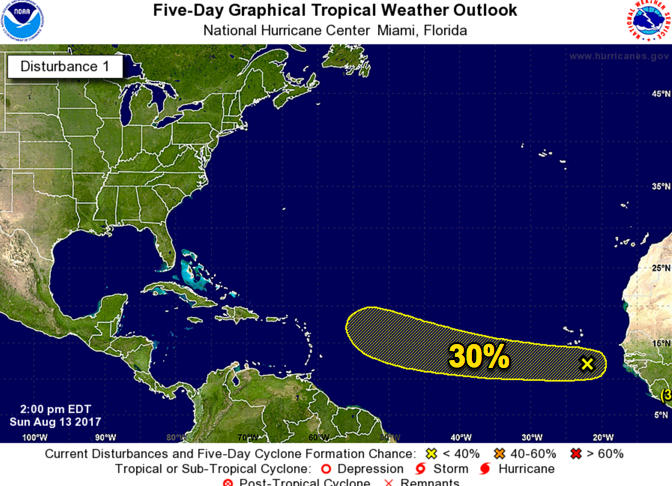 Invest 91L has a 30% chance of development and odds are increasing with each new NHC outlook.
