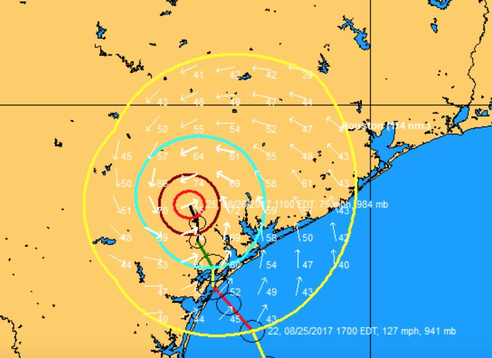 Harvey's current wind field.