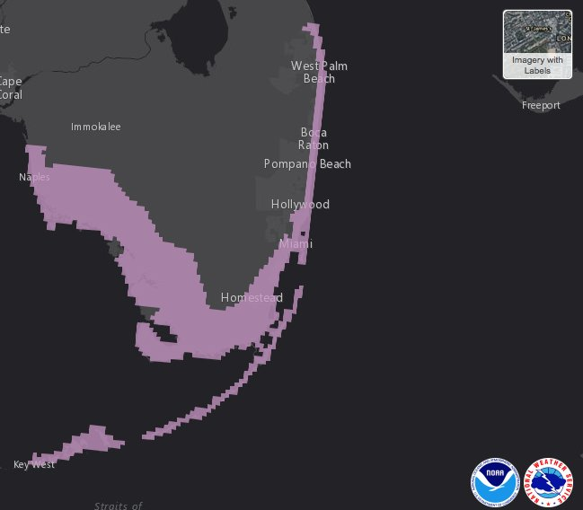 Here's a graphical view of the Storm Surge Watch that was just issued.