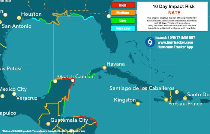 Hurricane Tracker App Risk Potential Map