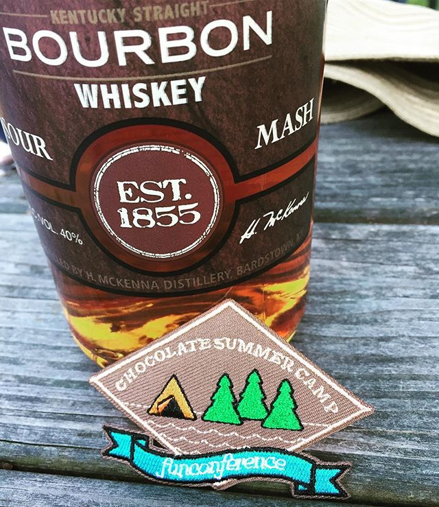 Are we at #chocolate #camp, or #bourbon camp? 🍫🍫🍫