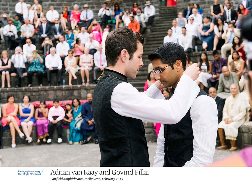 same sex wedding alan moyle melbourne samelove