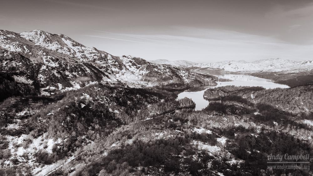 Looking North, towards Loch Katrine.