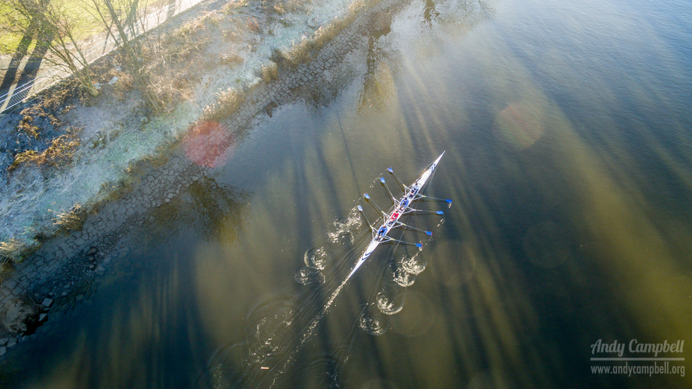 Stirling Rowing Club on the River Forth.